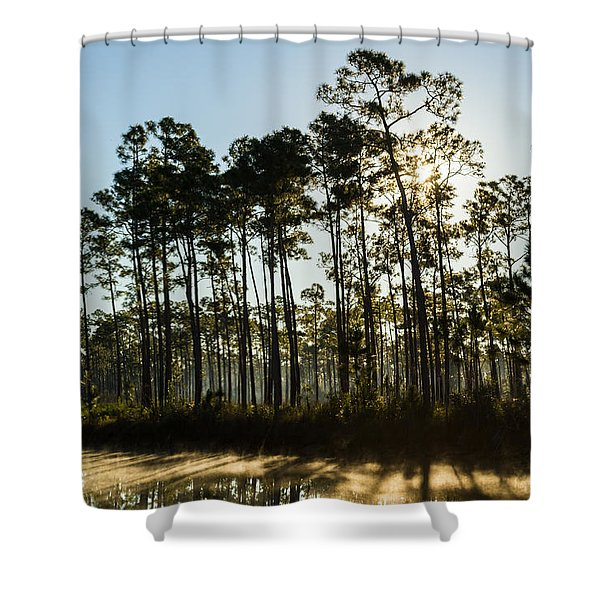 Everglades Sunrise Shower Curtain