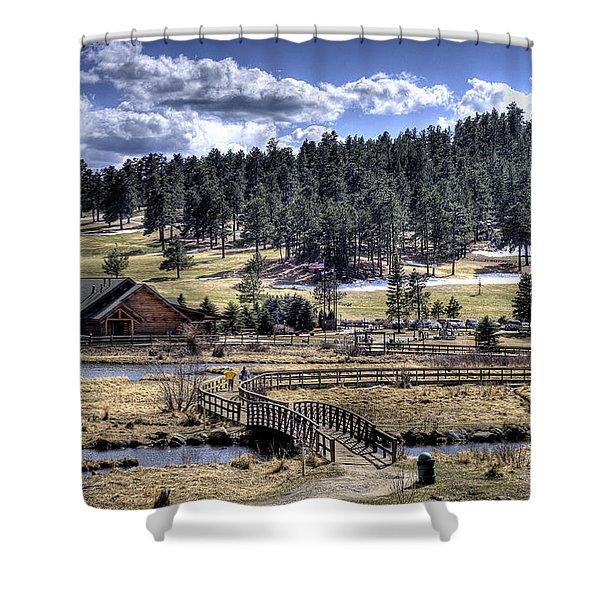 Evergreen Colorado Lakehouse Shower Curtain