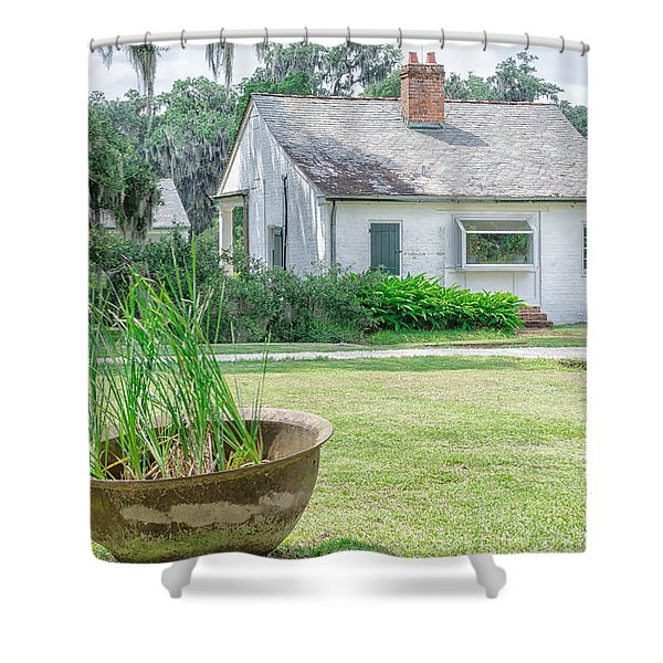 Evergreen Plantation Back Shower Curtain