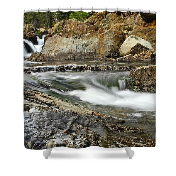 Everything Flows Shower Curtain