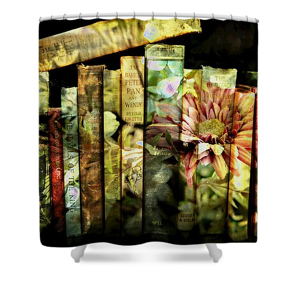 Evie's Book Garden Shower Curtain
