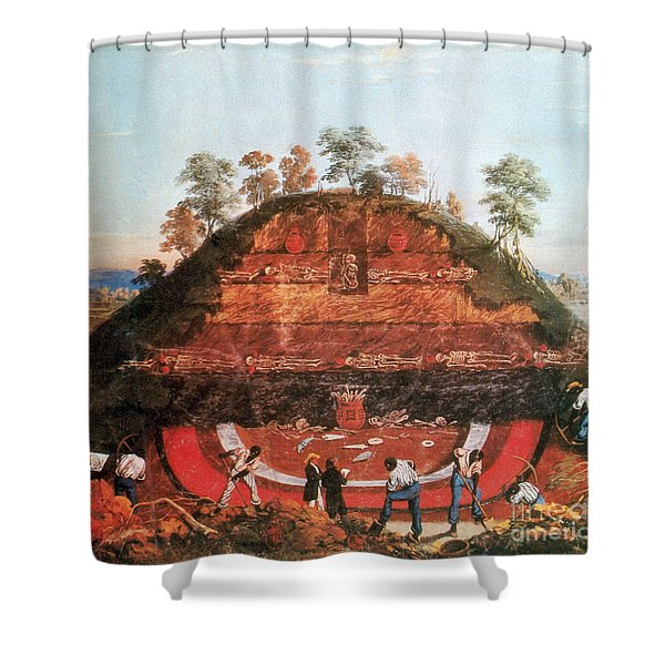 Excavation Of Indian Mound, 1850 Shower Curtain