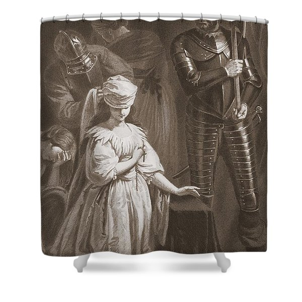 Execution Of Mary Queen Of Scots Shower Curtain