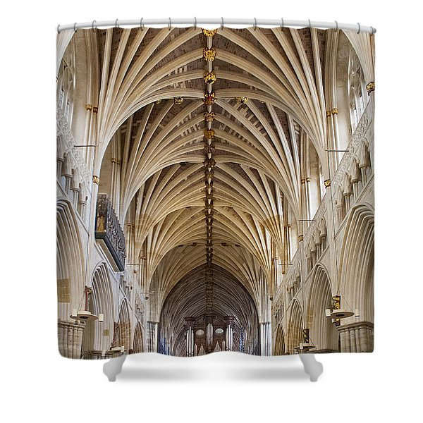 Exeter Cathedral And Organ Shower Curtain