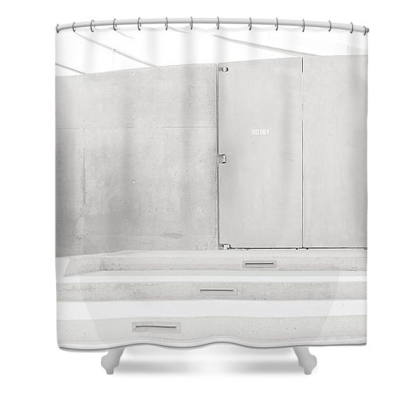 Exit Only Shower Curtain