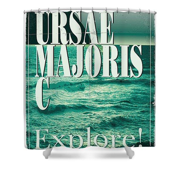 Exoplanet 03 Travel Poster Ursae Majoris Shower Curtain