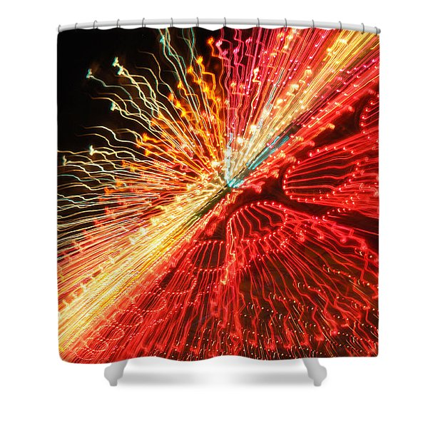 Exploding Neon Shower Curtain