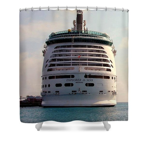 Explorer Of The Seas Shower Curtain