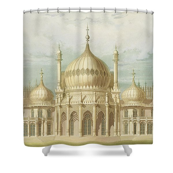 Exterior Of The Saloon From Views Of The Royal Pavilion Shower Curtain