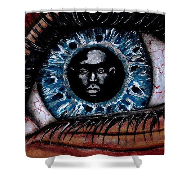 Eye Contact Shower Curtain