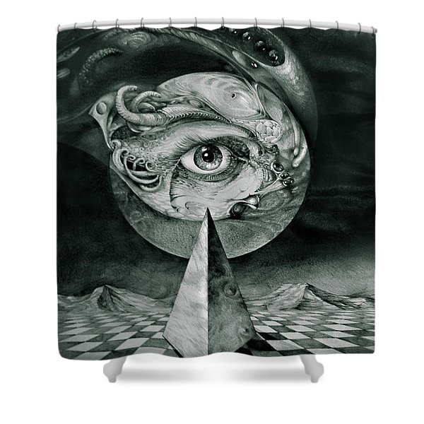 Eye Of The Dark Star Shower Curtain