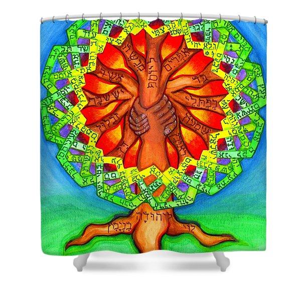 Ezekiel 37 Shower Curtain