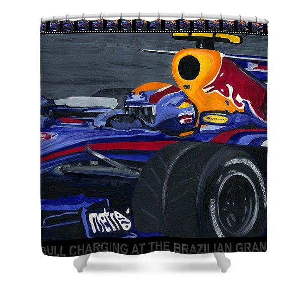 F1 Rbr At The Brazilian Grand Prix Shower Curtain