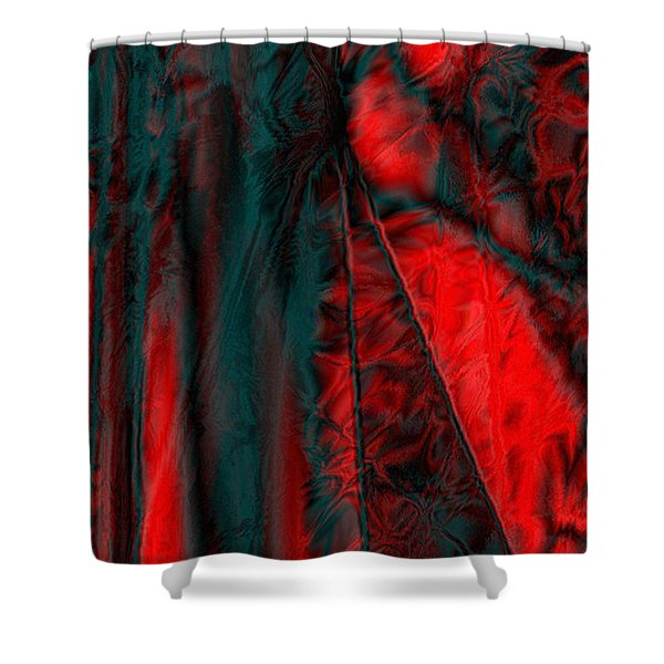 Fabric Study 01 Satin Shower Curtain