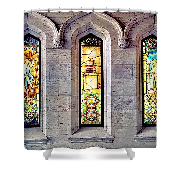 Fabulous Pigott Building  Stained Windows  Shower Curtain