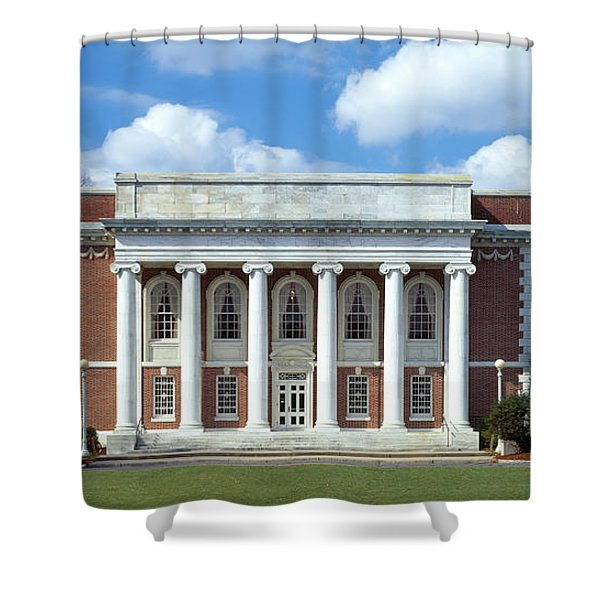 Facade Of A Library, Lilly Library Shower Curtain