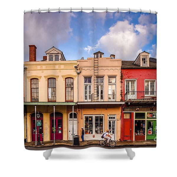 Facades Of Houses In The French Quarter Vieux Carre - New Orleans Louisiana Shower Curtain