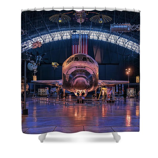 Face Of Discovery Shower Curtain
