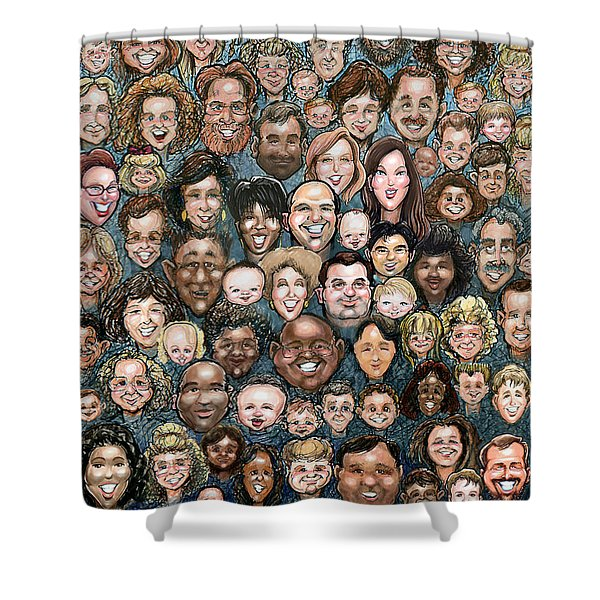 Faces Of Humanity Shower Curtain