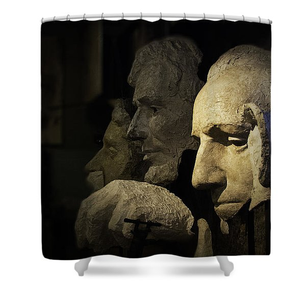 Faces Of Rushmore Shower Curtain