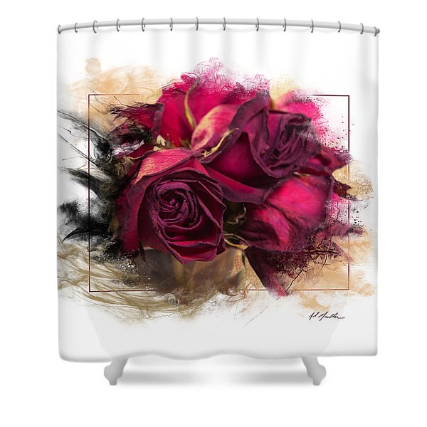 Fading Roses Shower Curtain
