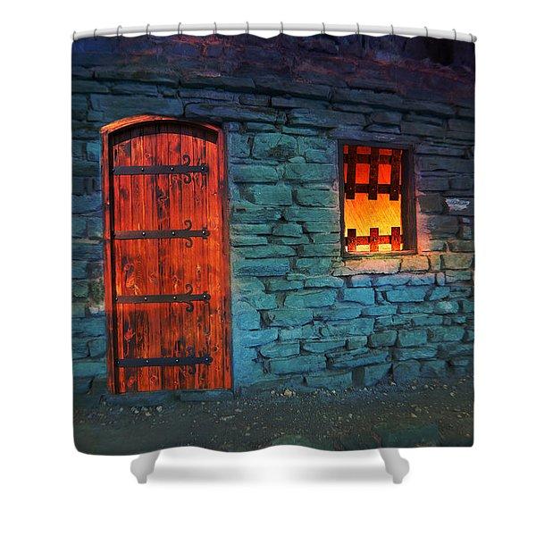 Shower Curtain featuring the photograph Fairy Tale Cabin by Gunter Nezhoda