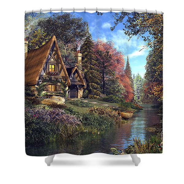 Fairytale Cottage Shower Curtain