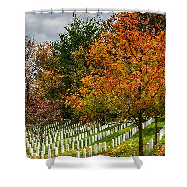 Fall Arlington National Cemetery  Shower Curtain