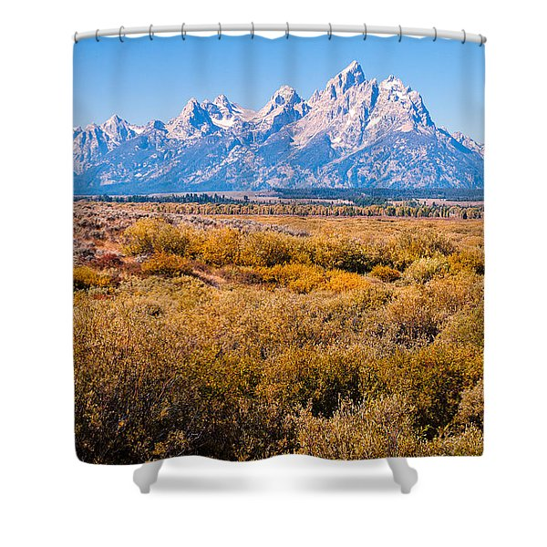 Fall Colors In The Tetons   Shower Curtain