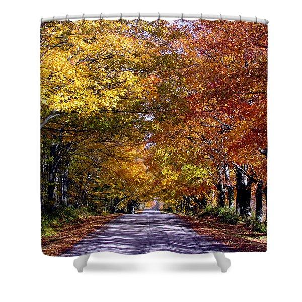 Fall Colors Near Sister Bay Shower Curtain