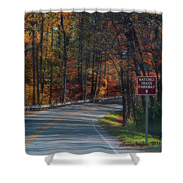 Fall Drive In Tennessee  1 Shower Curtain