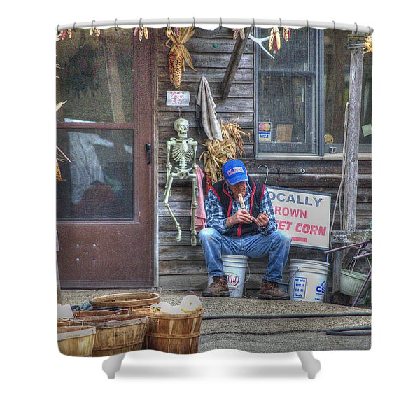 Fall Farmer's Market Shower Curtain