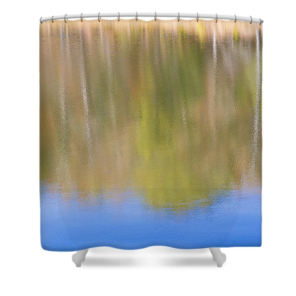 Fall Foliage Reflected In Lake Shower Curtain