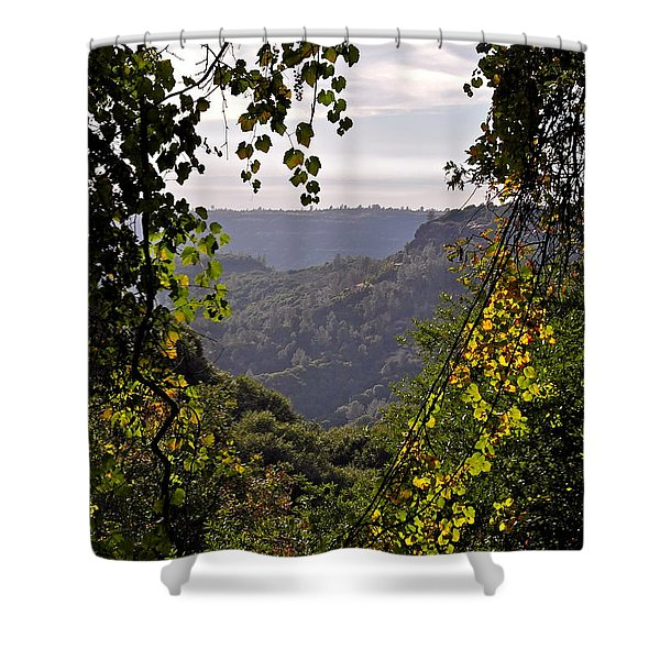 Fall Frames The Canyon Shower Curtain