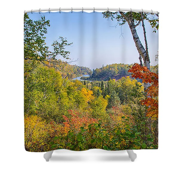 Fall In Gooseberry State Park Shower Curtain