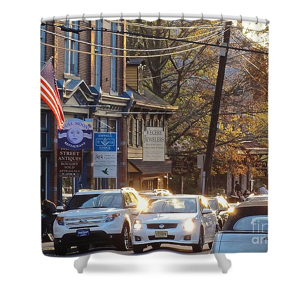 Fall On Bridge Shower Curtain