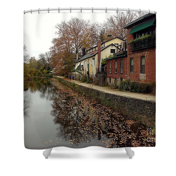 Fall On The Canal Shower Curtain