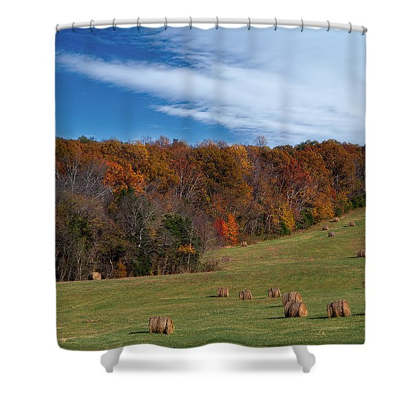 Shower Curtain featuring the photograph Fall On The Farm by Jemmy Archer