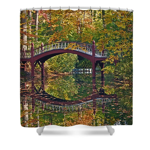 Fall Reflections At Crim Dell Shower Curtain