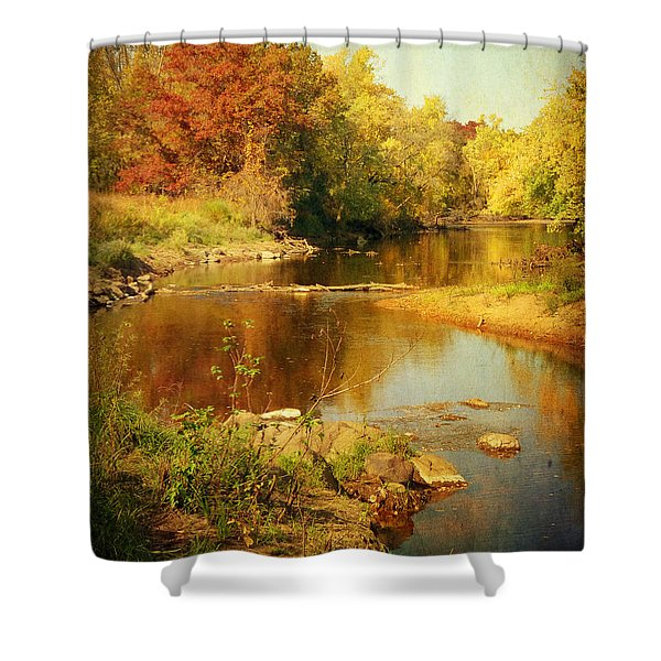 Fall Time At Rum River Shower Curtain