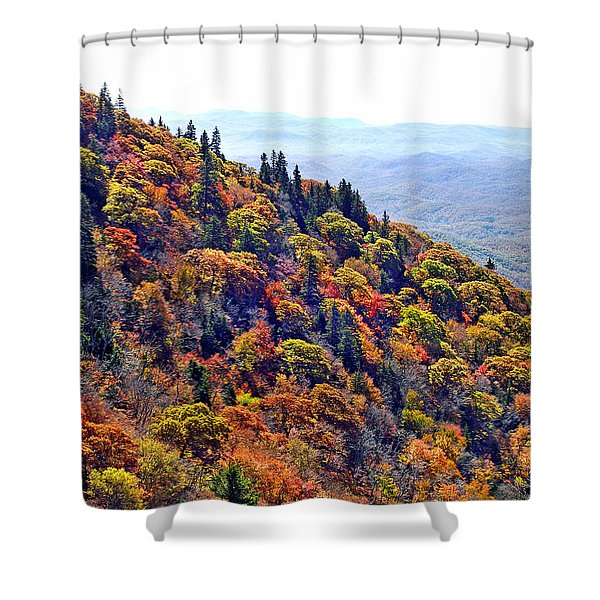 Fall View Near Devil's Courthouse Rock Shower Curtain