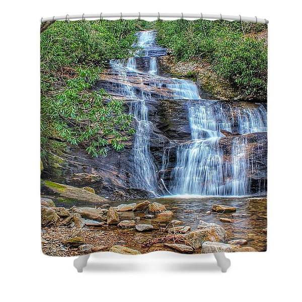 Falling From Mount Mitchell Shower Curtain