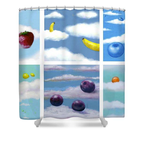 Falling Fruit Group Shower Curtain