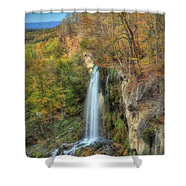 Falling Springs Falls Shower Curtain