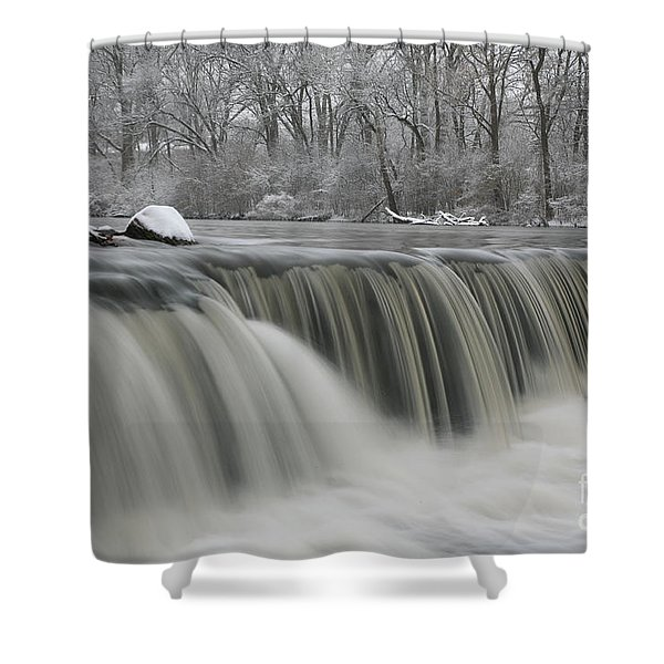Falls In Winter Shower Curtain