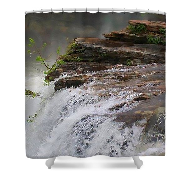 Falls Of Alabama Shower Curtain
