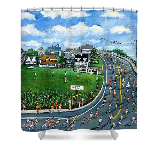 Falmouth Road Race Running Falmouth Shower Curtain