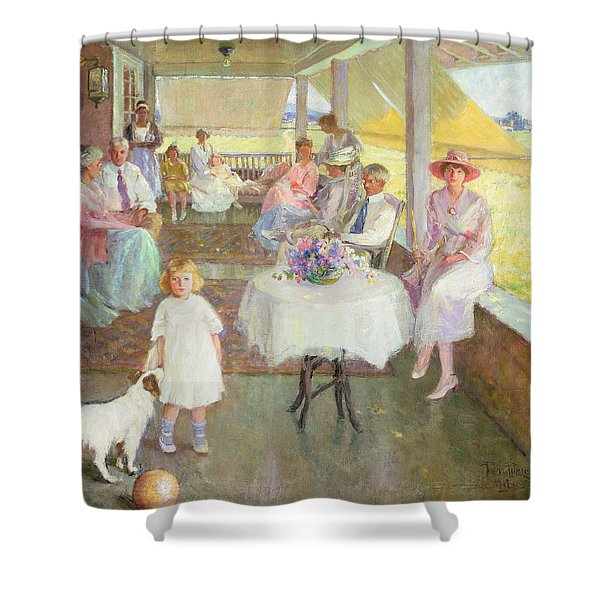 Family Gathering, 1919 Shower Curtain