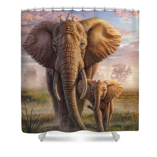 Family Stroll Shower Curtain