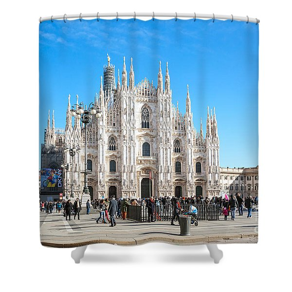 Famous Piazza Del Duomo - Milan - Italy Shower Curtain
